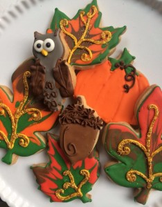 Fall Leaves Owl Acorn Pumpkin